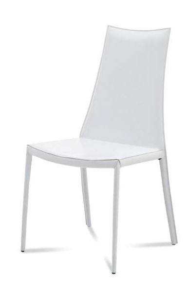 白いレザー張り店舗用チェア座面高さ46cm