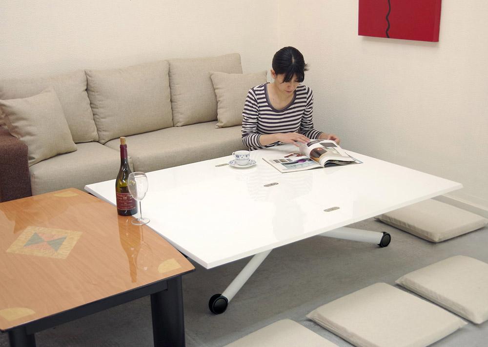 ローテーブルや座卓と高さの合うテーブル