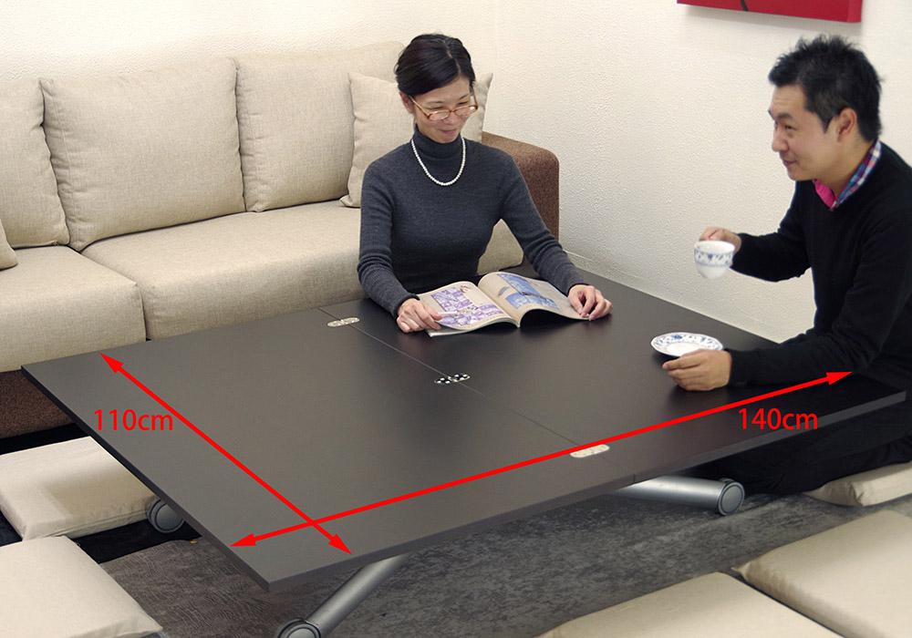 110cm×140cmビッグリビングテーブル
