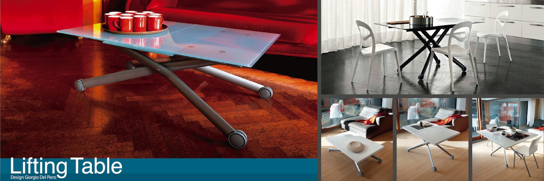 イタリア製伸張式昇降テーブル