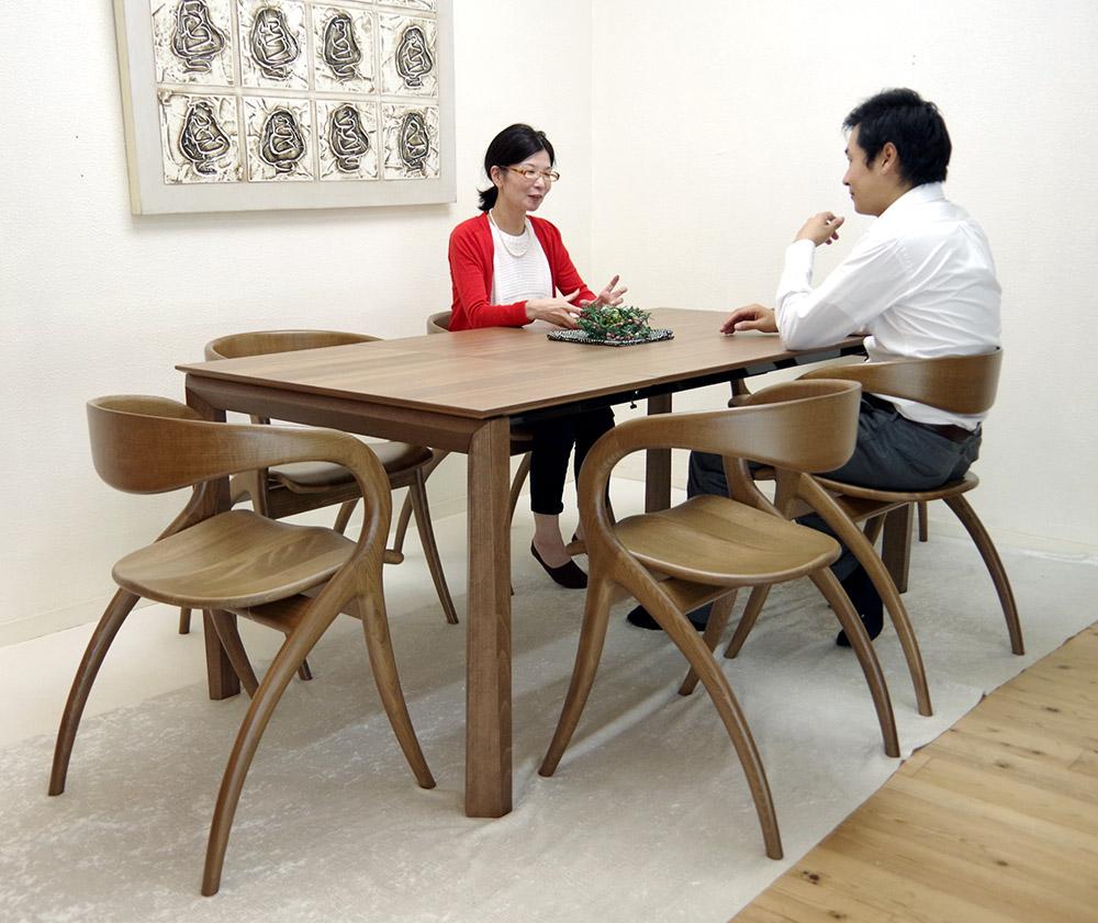 巾230cm伸縮テーブルセットイタリア製