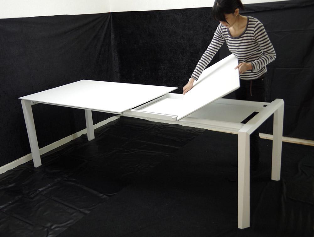 イタリア製伸長式テーブルおしゃれ