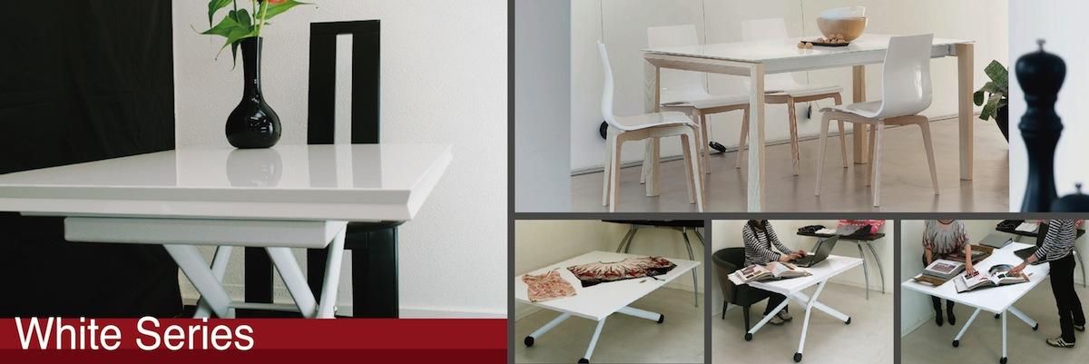 白いデザイナーズテーブル&チェア