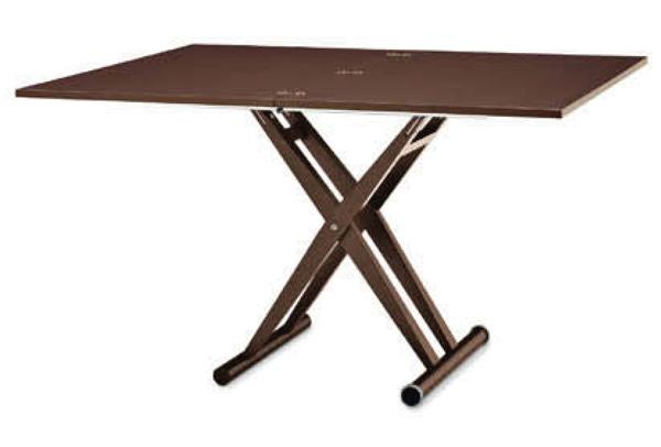 高級感ある木製伸長昇降テーブル