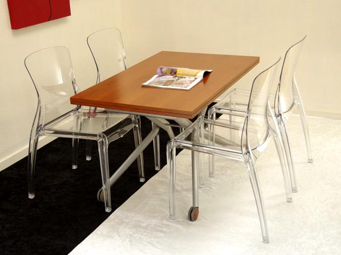 木製昇降テーブルイスセット