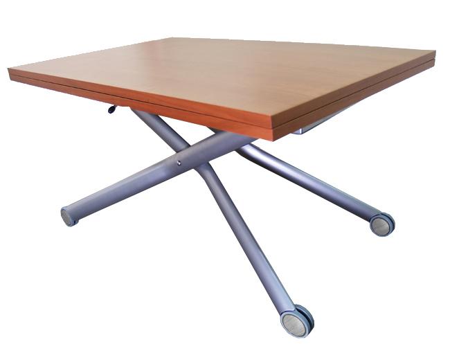昇降テーブルチェリー色