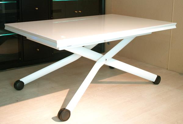 事務所用白い伸長昇降式テーブル