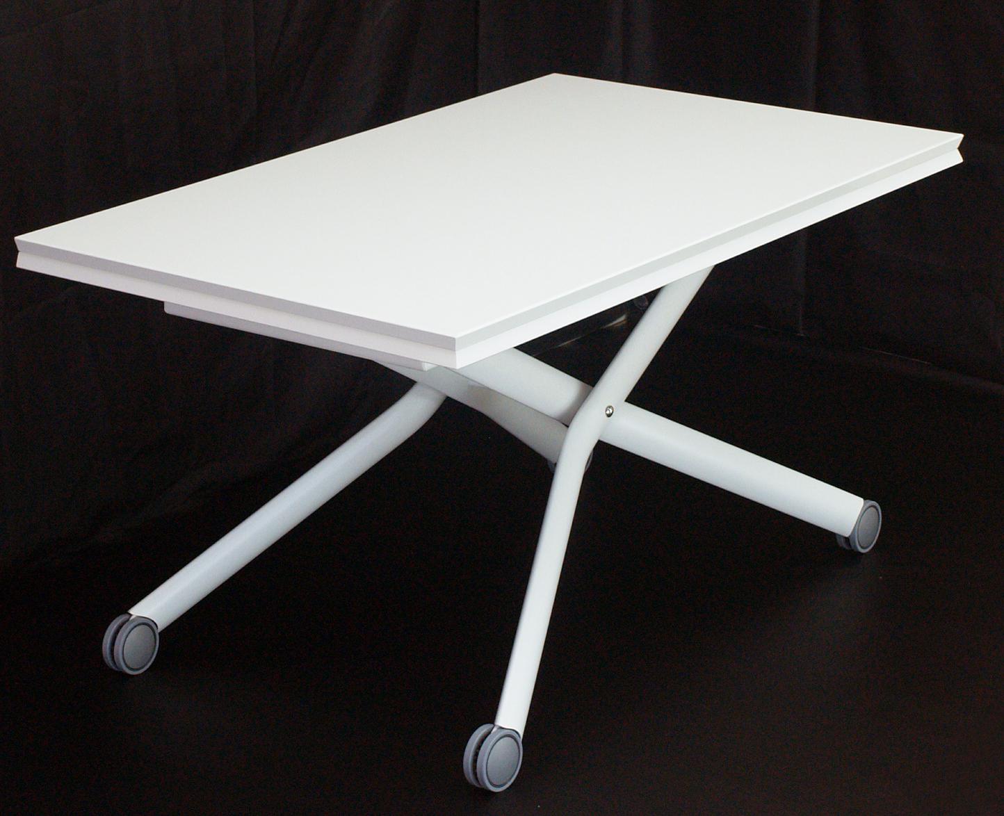 店舗用ホワイトリフティングテーブル