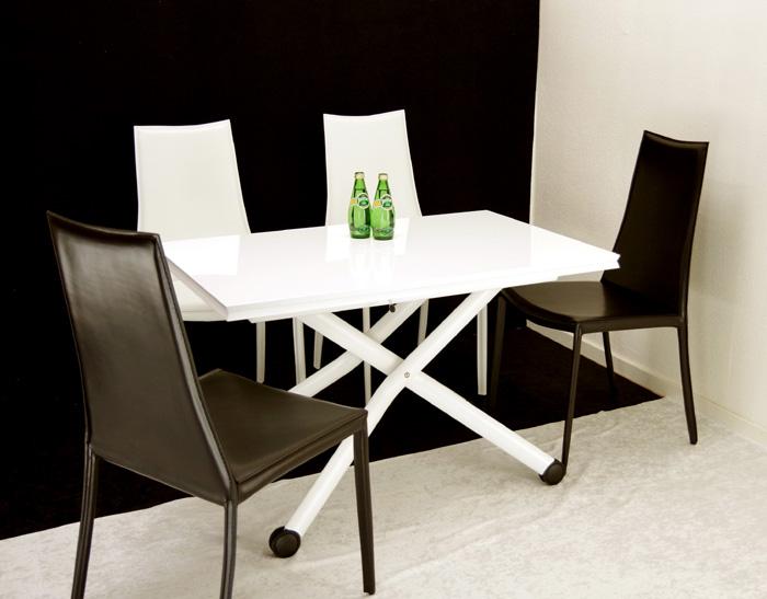 白いリフティングテーブルセット